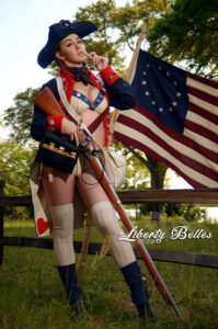 Lana locks and loads for Liberty Belles